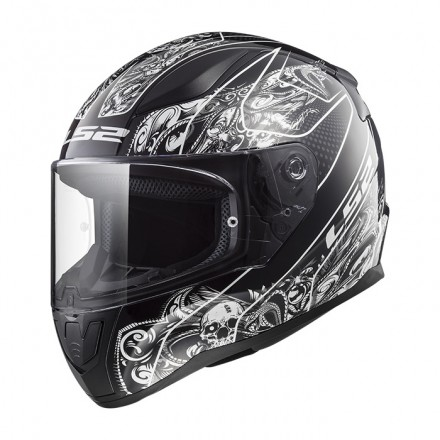 Casco integral LS2 FF353.22 Rapid Crypt Black White