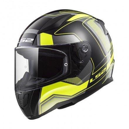 Casco integral LS2 FF353.25 Rapid Carrera Matt Black H-V Yellow