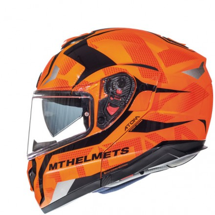 Casco modular MT Atom SV Divergence G1 Gloss Fluor Orange