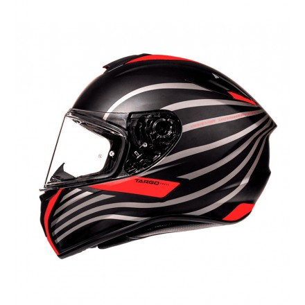 Casco integral MT Targo Doppler A0 Matt Fluor Red