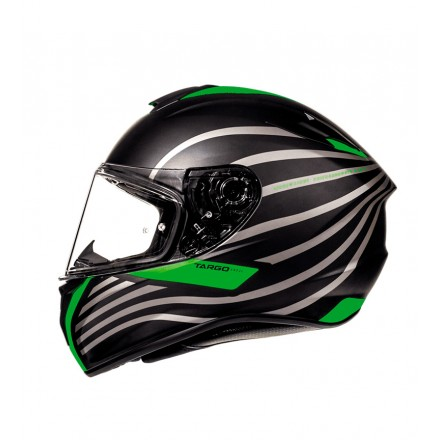 Casco integral MT Targo Doppler A2 Matt Fluor Green