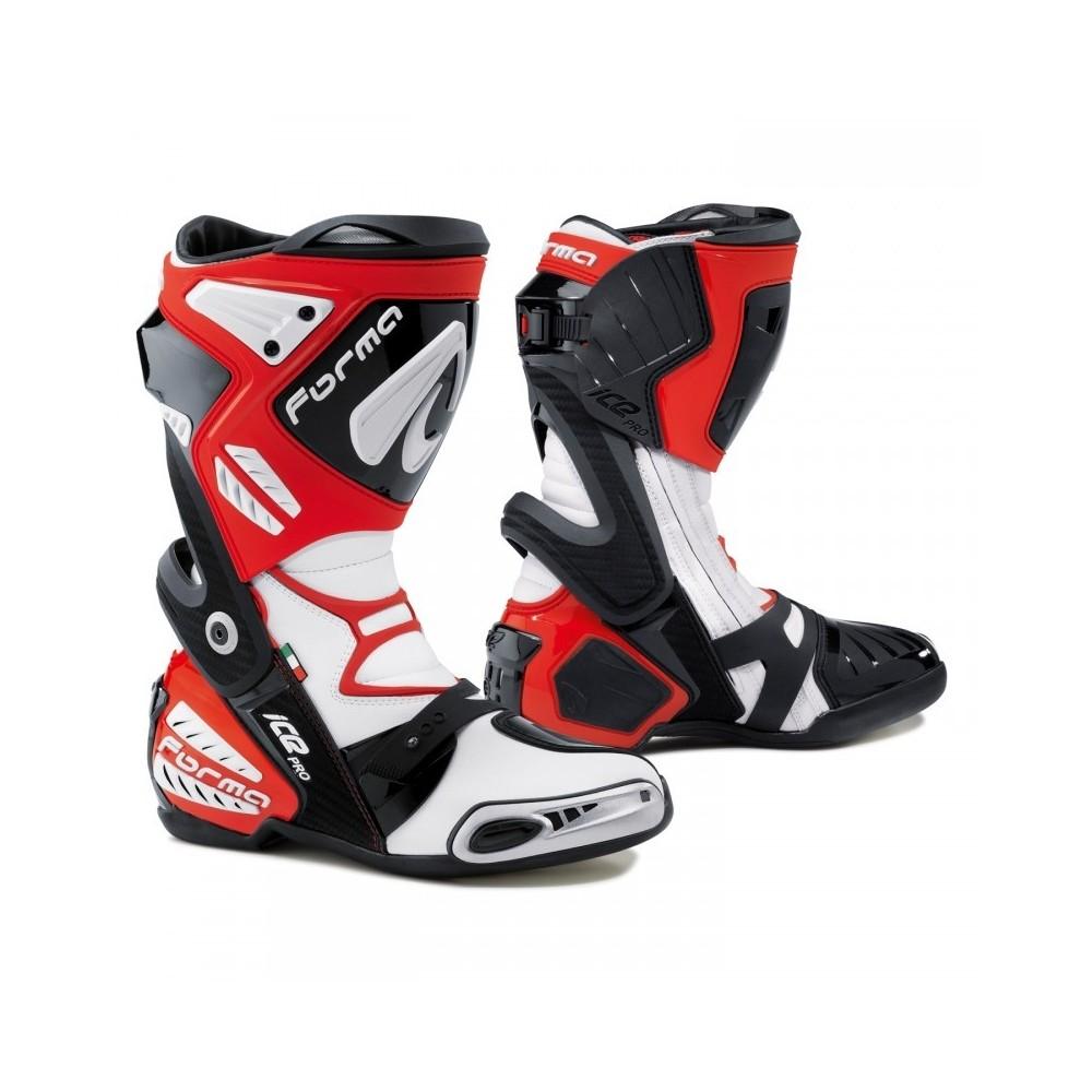 Bottes De Moto Course Forma Ice Pro Red Hospitalet Pas Cher