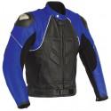 Chaqueta de cuero Goyamoto GM-163 azul