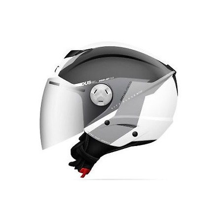 Casco jet MT City Eleven SV Spark C3 Gris Perla Brillo