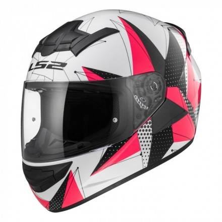 Casco integral LS2 FF352.54 ROOKIE Brilliant WhitePink
