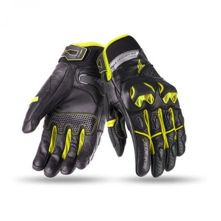 Guantes de verano Seventy SD-N32 negro-amarillo flúor