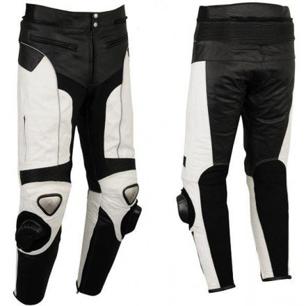 Pantalón de cuero Goyamoto GM-154 blanco