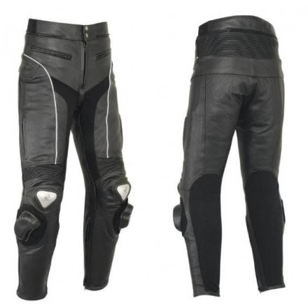 Pantalón de cuero Goyamoto GM-154 negro