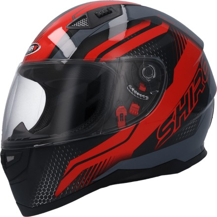 Casco integral Shiro SH-881 SV Motegi II Matt Black Red