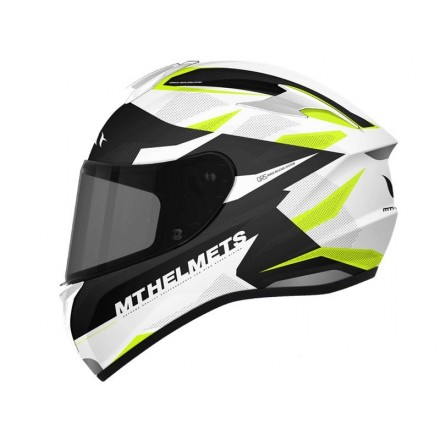 Casco integral MT Targo Enjoy D3 Gloss Pearl FLuor Yellow