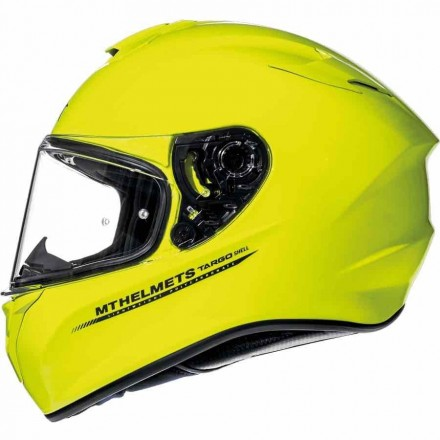 Casco integral MT Targo Solid A3 Gloss Fluor Yellow
