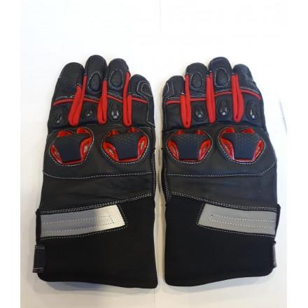 Guantes de verano Compilo CM-32 negro-rojo