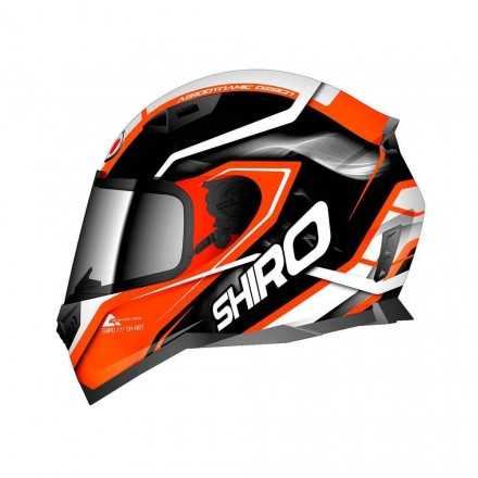 Casco integral Shiro SH-881 Motegi Matt Black Orange