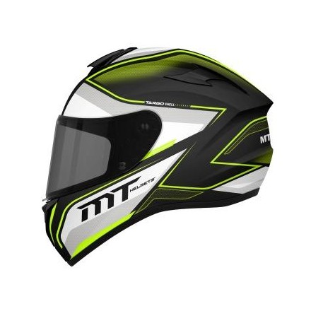 Casco integral MT Targo Interact A4 Gloss Pearl Fluor Yellow