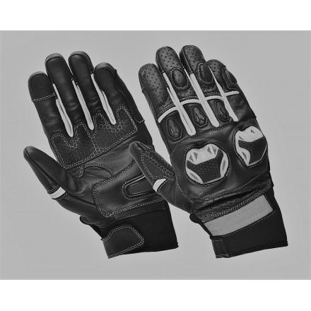 Guantes de verano Compilo CM-32 negro-blanco