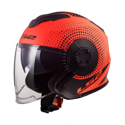 Casco Jet LS2 OF570 Verso Spin Matt Fluo Orange