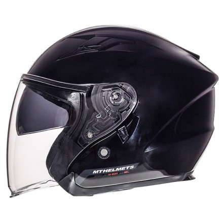 Casco jet MT Avenue negro brillo