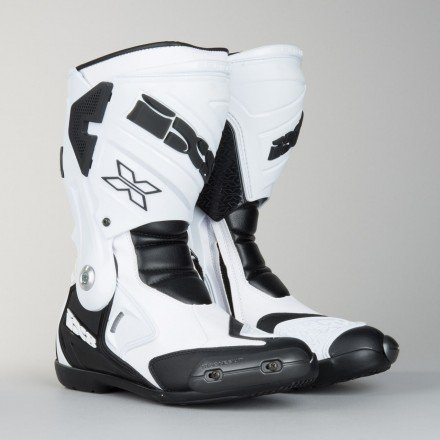 Botas moto racing IXS Estoril blancas-negras