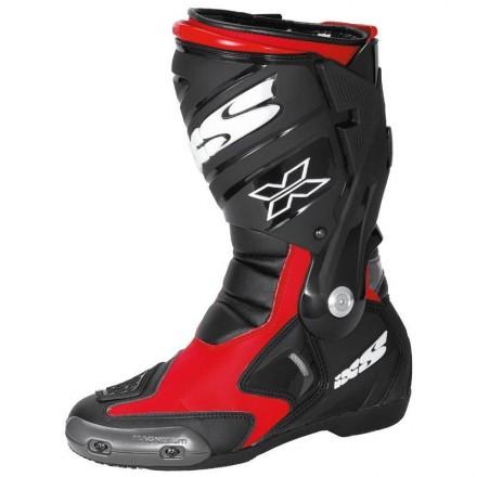 Botas moto racing IXS Estoril negro-rojo