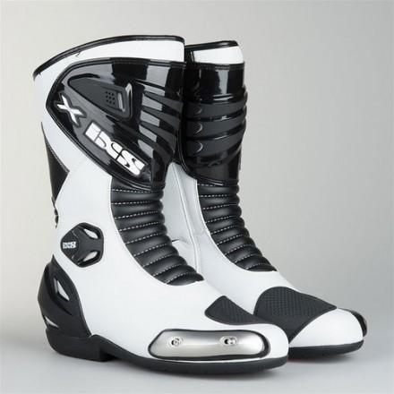Botas moto racing IXS Sepang blancas-negras