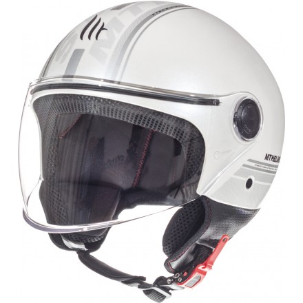 Casco jet MT Street Entire E6 Gloss Pearl White