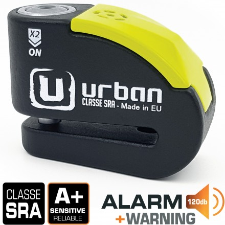 Antirrobo disco Urban UR10 con alarma 10 mm. y 120 db.