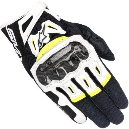 Guantes Alpinestars SMX-2 Air Carbon V2 Black White Yellow Fluo