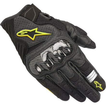 Guantes Alpinestars SMX-1 Air V2 Black Yellow Fluo