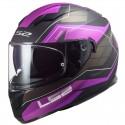 Casco integral LS2 FF320.56 Stream Evo Mercury Titanium Purple