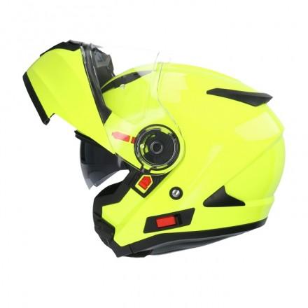 Casco modular Shiro SH-508 color amarillo flúor