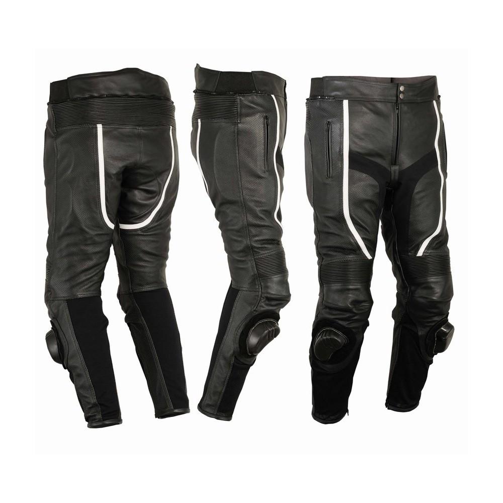 07cb8a4d0 Pantalón de cuero perforado Goyamoto GM-155 negro barato y en oferta ...